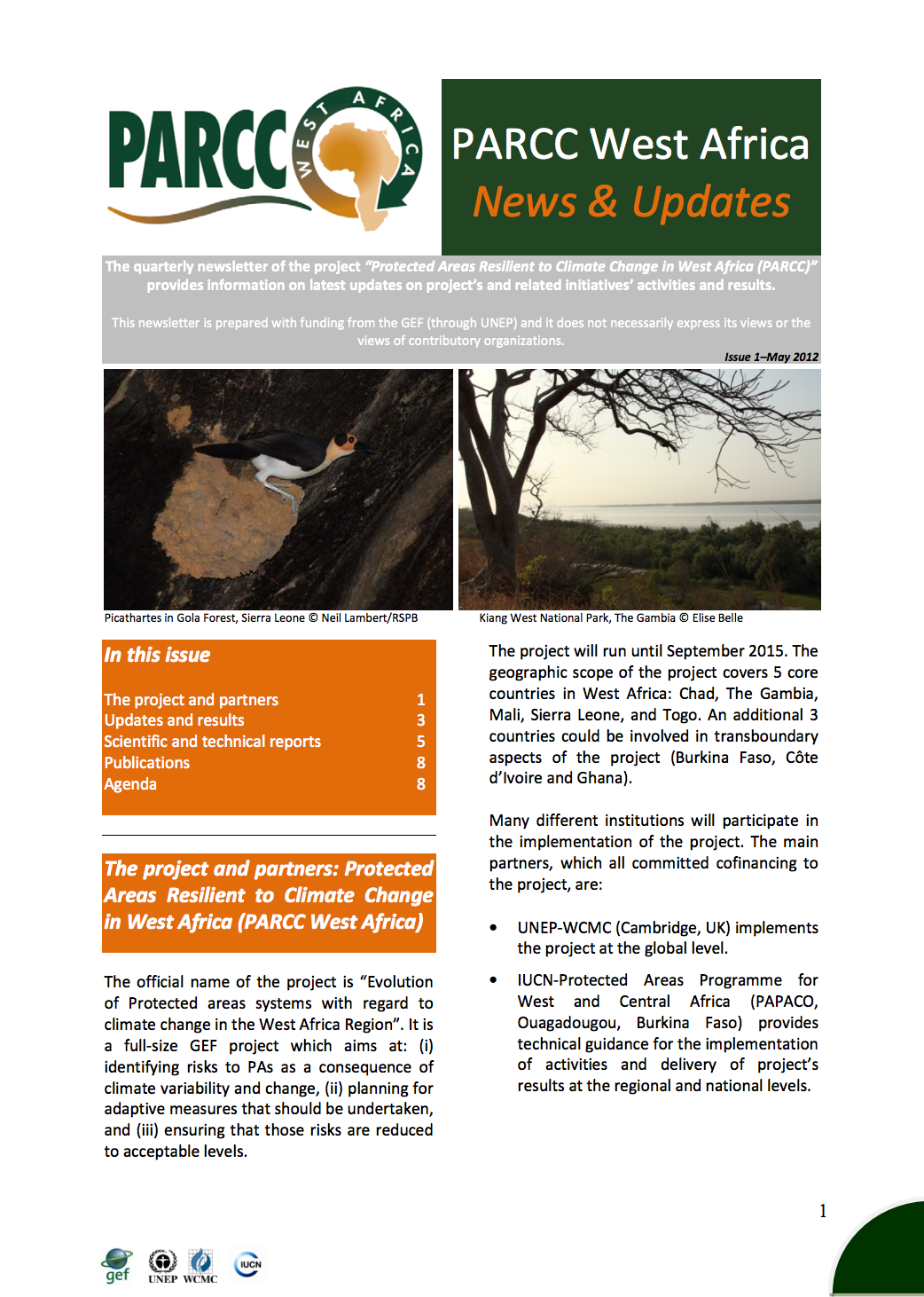 Newsletter number 1